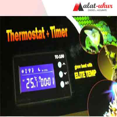 Pengukur Aquarium Reptile Thermostat dan Timer TC-100