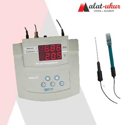 Alat Bench pH/Temp Meter PHS-3C