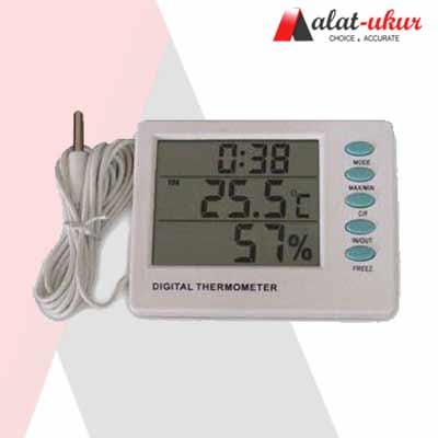 Digital Thermometer Hygro dan Jam AMT-109