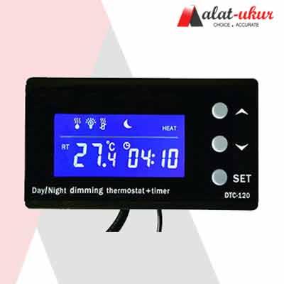 Dimming Malam Hari Aquarium Reptile Thermostat dan Timer DTC-120
