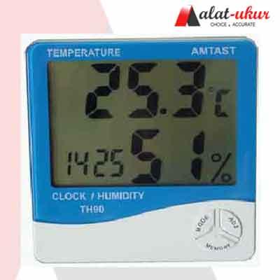 Alat Ukur Thermometer Hygro dan Jam TH90