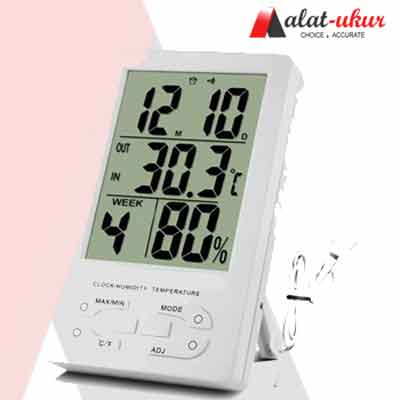 Alat Ukur Thermometer Hygro dan Jam TH91