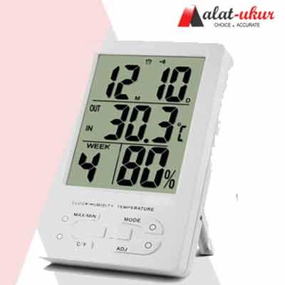 Indoor Thermometer Hygro dan Jam TH96