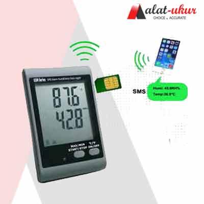 Pengukur Suhu dan Kelembaban Data Logger Alarm GSM SMS AMT-138